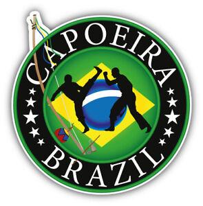Capoeira Fighter Emblem Car Bumper Sticker Decal 5/'/' x 5/'/'