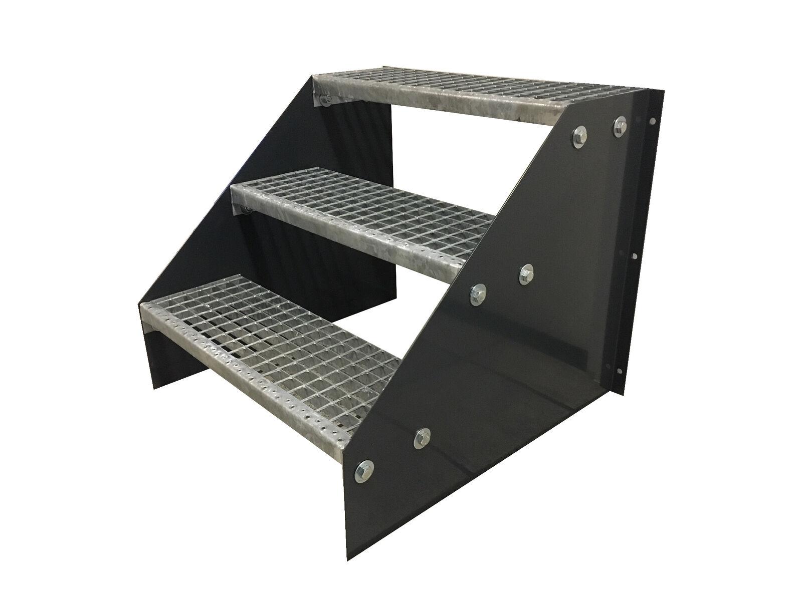 3 stadi libere acciaio scale STAND Scale Scale Scale Larghezza 70cm altezza 63cm Nero 51e1c3