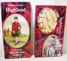 Highland Tea + Shortbread Fingers Collectible Tin Can Box Lot Huntley Scottish