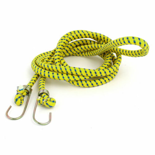 Bicycle Metal Hook Clasp Stretchy Braid Packing Rope Luggage Cord 6.9 Ft