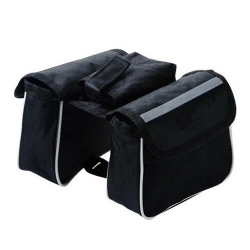 Cycling Bike Frame Pannier Saddle Front Tube Bag Double Pouch Bag Holder Styling