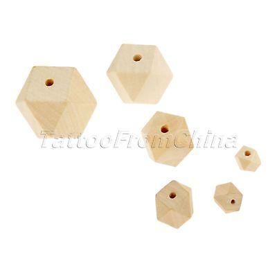 Octagonal Wooden Ball Beads Mixed Colour Polish for Handmade Jewelry Birthday