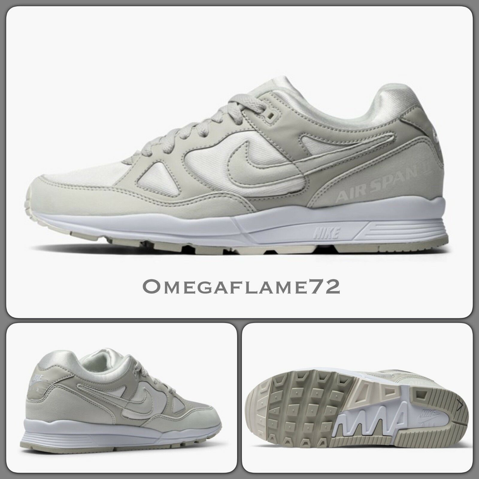 Nike Air Span II 2 EU OG, Sz UK 12, EU 2 47.5, US 13 AH8047-100, SUMMIT WEISS, GREY c77b34