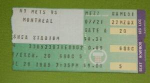 New York Mets Ticket Stub | July 29 1985 | Andre Dawson Gary Carter Hit