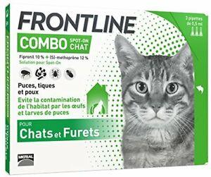 FRONTLINE Combo Chat Anti-puces Et Anti-Tiques Pour Chat 6 PIPETTES France 48h
