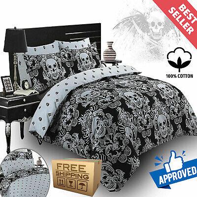 Pillow Cases Gothic Quilt Bedding Set, Black Gothic Bedding
