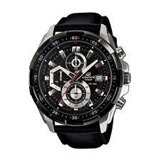 Men's Casio Edifice Efr-539l-1av Watch Chronograph Leather Quartz Date Display
