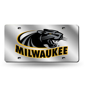 Details about Wisconsin Milwaukee Panthers NCAA Mirrored Laser Cut License  Plate Laser Tag
