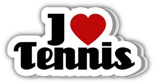 3/'/' 5/'/' 6/'/' or 8/'/' I Love Tennis Cloud Car Bumper Sticker Decal