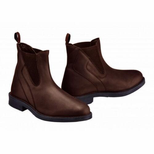 Harry Hall Recife Cireuse à enfiler marron cuir italien Jodhpur Bottes Toutes Les Tailles