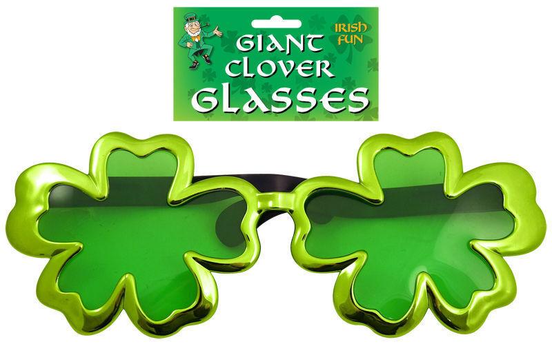 2019 DernièRe Conception Nouveau Giant St Patricks Jour Irlandais Trèfle Lunettes Caractéristiques Accessoire Robe Fantaisie Douceur AgréAble