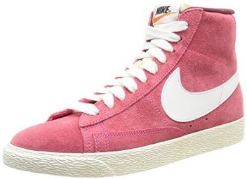 Nike Blazer Pink Foil Suede & Leather Ladies Trainers -