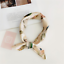 Women Ladies Vintage Elegant Square Scarf Silk Satin Small Neckerchief Headband