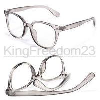 TOP QUALITY Vintage Transparent Gray Eyeglass Frame men women Spectacles Glasses