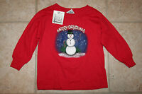 Mis Tee V Us Boys Girls 2t Christmas Snowman Ls T-shirt Shirt