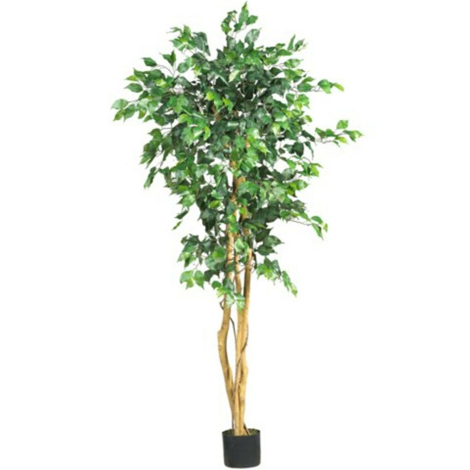 Decorative Natural Looking Artificial Home Office 5' Ficus Silk Tree Plants
