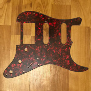 NEW-Red-Pearloid-HSS-Stratocaster-PICKGUARD-for-Fender-Strat-Humbucker-Pickup