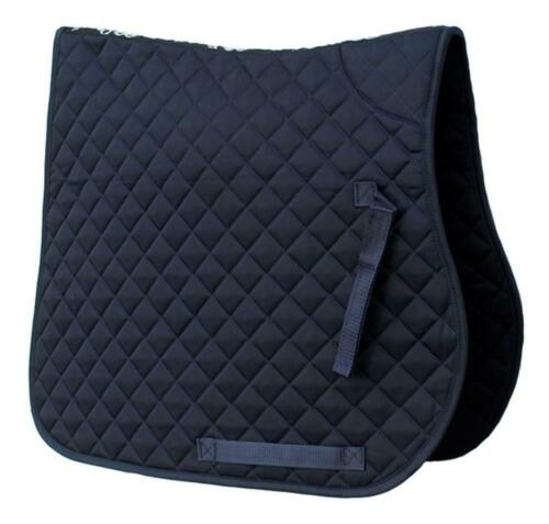 Rhinegold Cotton Quilted Saddlecloth in Navy