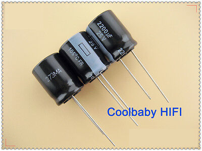 2PCS 50V 2200uF 50Volt 2200MFD Electrolytic Capacitor 16×25 Radial
