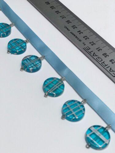 Beaded Trim turquoise disque acrylique-Abat-jour Rideau Stores coussins Craft