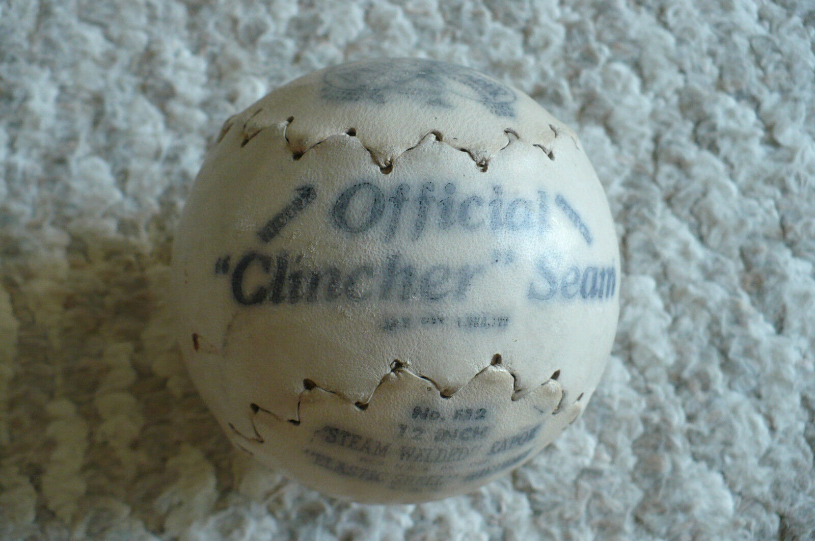 Vintage  1950 's Double Header Softball Baseball F12  Clincher Seam Official