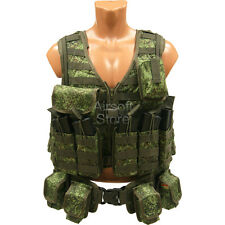 Russian digital Vest military army paintball airsoft chest rig olive AK green od