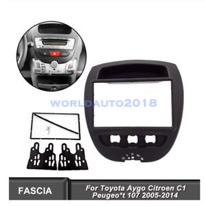 Doppio-DIN-Radio-Stereo-Auto-Pannello-di-fascia-per-TOYOTA-AYGO-PEUGEOT-107-CITROEN-C1