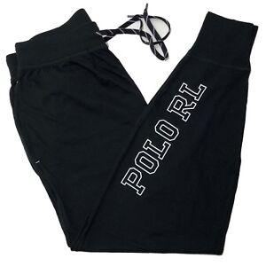 Ralph-LAUREN-POLO-Da-Uomo-a-pelo-Jogger-Sleepwear-fondo-pantalone-nero-M