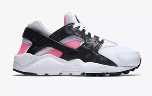 8d8c928cb415 Nike Air Huarache Run GS Youth Size 5Y Shoes White Black Pink 654280 ...
