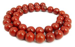 Roter-Jaspis-Breckzienjaspis-Kugeln-in-4-6-8-amp-10-mm-Perlen-Strang