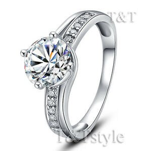 T-amp-T-RHODIUM-925-Sterling-Silver-1-25-Carat-Crown-Engagement-Wedding-Ring-RW09