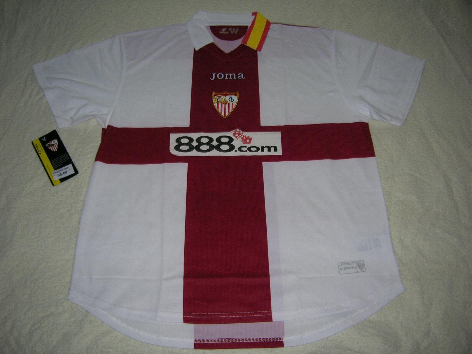 Camiseta de fútbol  Sevilla Joma Nueva  XXL  estilo clásico