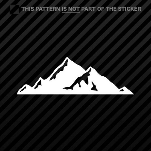 2x Mountains Silhouette Sticker Vinyl hiking outdoors skiing snowboard v2