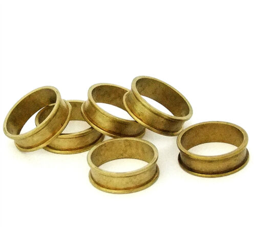 """Raw Brass Ring Blanks 1//4/""""  Wide Size 10 With Channel  Pkg Of 6"""