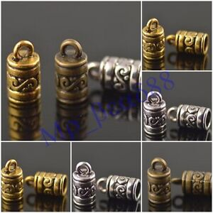 50Pcs-End-Caps-Bead-Stopper-Fit-4mm-Leather-Cord-Jewelry-DIY-Marking-Charms-NEW