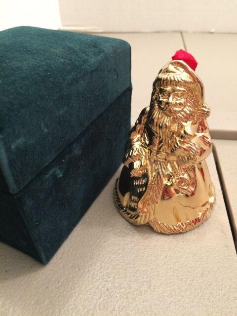 Santa Claus Christmas Bell Ornament Bombay Company ...