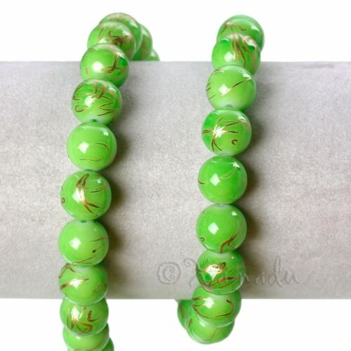 Green Gold Wholesale 10mm Round Drawbench Glass Beads G6678-75 150 Or 300PCs