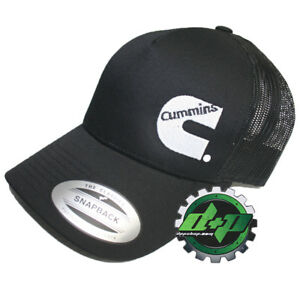 Cummins trucker mesh summer cummings hat ball cap snap back black ... da64480e2dd2