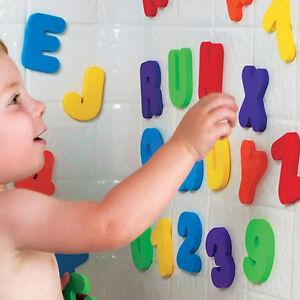 36PCs-Bambini-Educativo-Giocattoli-da-bagno-mobile-multi-colore-Lettere-di-schiuma-amp-Regali-NUM-UK