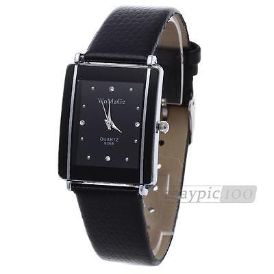 Fashion Leather Women Lady Sport Quartz Wrist Watch Analog Gift Black New