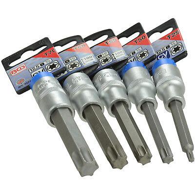 para Torx   perfil en T entrada 12,5 mm 1//2 BGS 4474 longitud 100 mm Punta de vaso T50