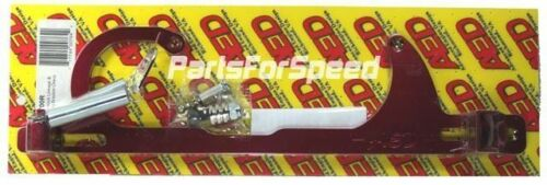 AED 6700R Edelbrock Carb GM Throttle Cable Bracket Kit with Return Springs Red