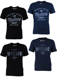 Mustang-Camiseta-Hombre-con-impresion-Frontal-corte-de-cuello-redondo-P4