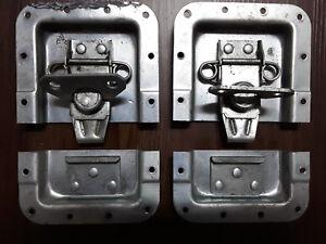 """CréAtif 2 Utilisées Road Case Encastré Papillon Loquet 5"""" X 6.75"""" Avec Loquet Pour Ajouter Lock-afficher Le Titre D'origine AgréAble En ArrièRe-GoûT"""