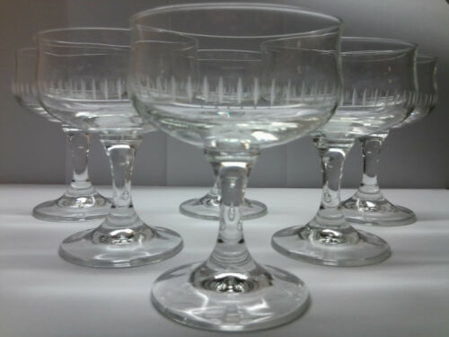6 edle Sektschalen alte Bleikristall Zwiesel Sektgläser 60er TOP
