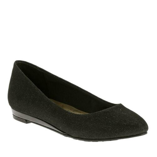 Soft Style By Hush Puppies Darlene Womens Black Cosmic Flats