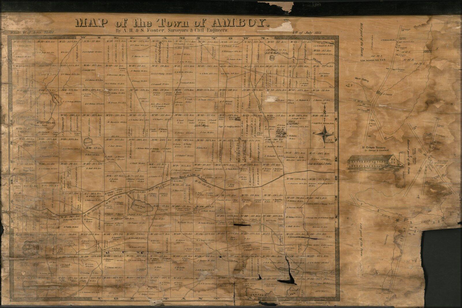 Plakat, Viele Größen; Landkarte der Stadt von Amboy New York