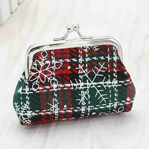 Ladies Girls Snowflake Coin Purse Christmas Gift Ladies Money Pouch Wallet