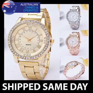 KANIMA-WOMENS-BLING-WATCH-WITH-FAUX-DIAMONDS-Rose-Gold-Silver-Ladies-Quartz-112