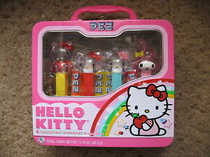 PEZ Retired Crystal Hello Kitty with Full Body Ushana In Tin - Mint Never Opened